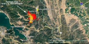 pawnee fire on map l viral-a