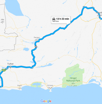 another short route from makran coastal highway to m8 rato dero