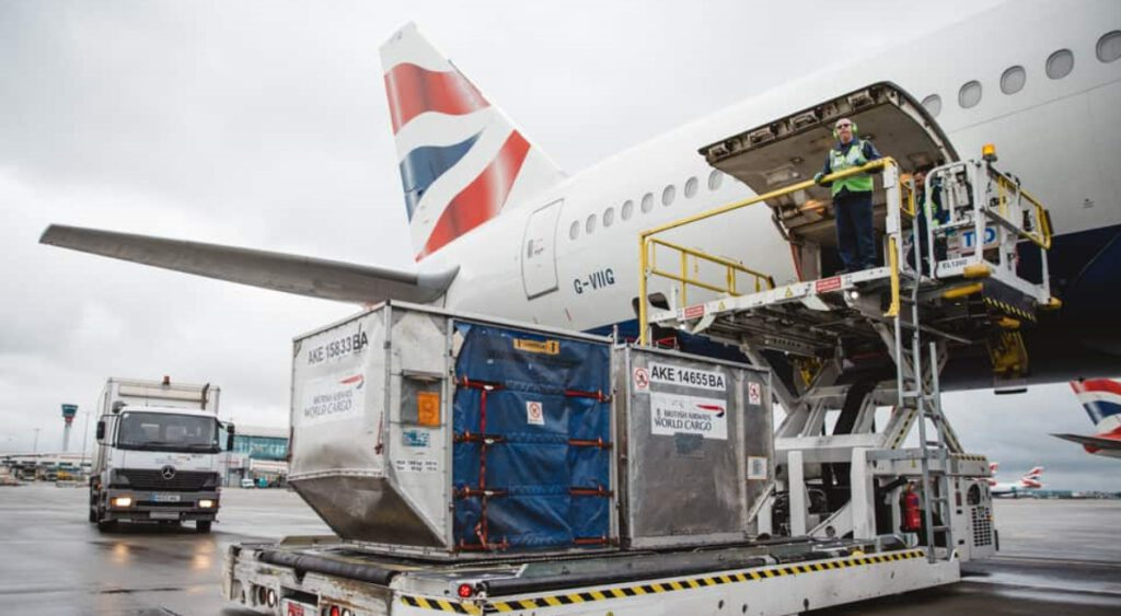 cargo services from UK to India